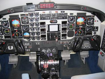 航空機シミュレータ:計器飛行操縦訓練装置